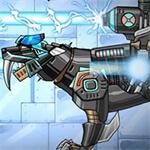 Dino Robot Smilodon Black